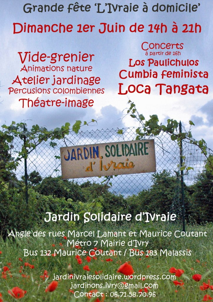 jardin solidaire d'Ivraie - 1er juin 2014